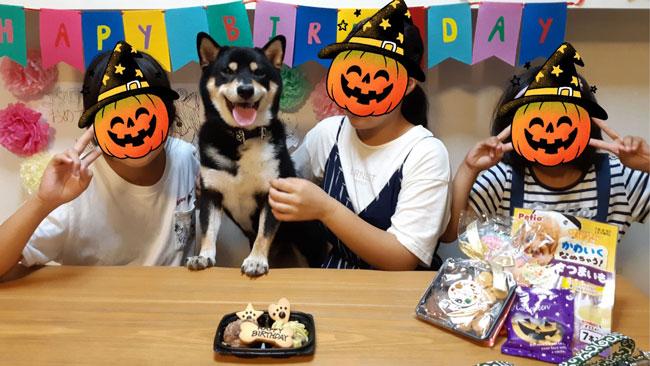 家族に誕生日を祝われる琥太郎君